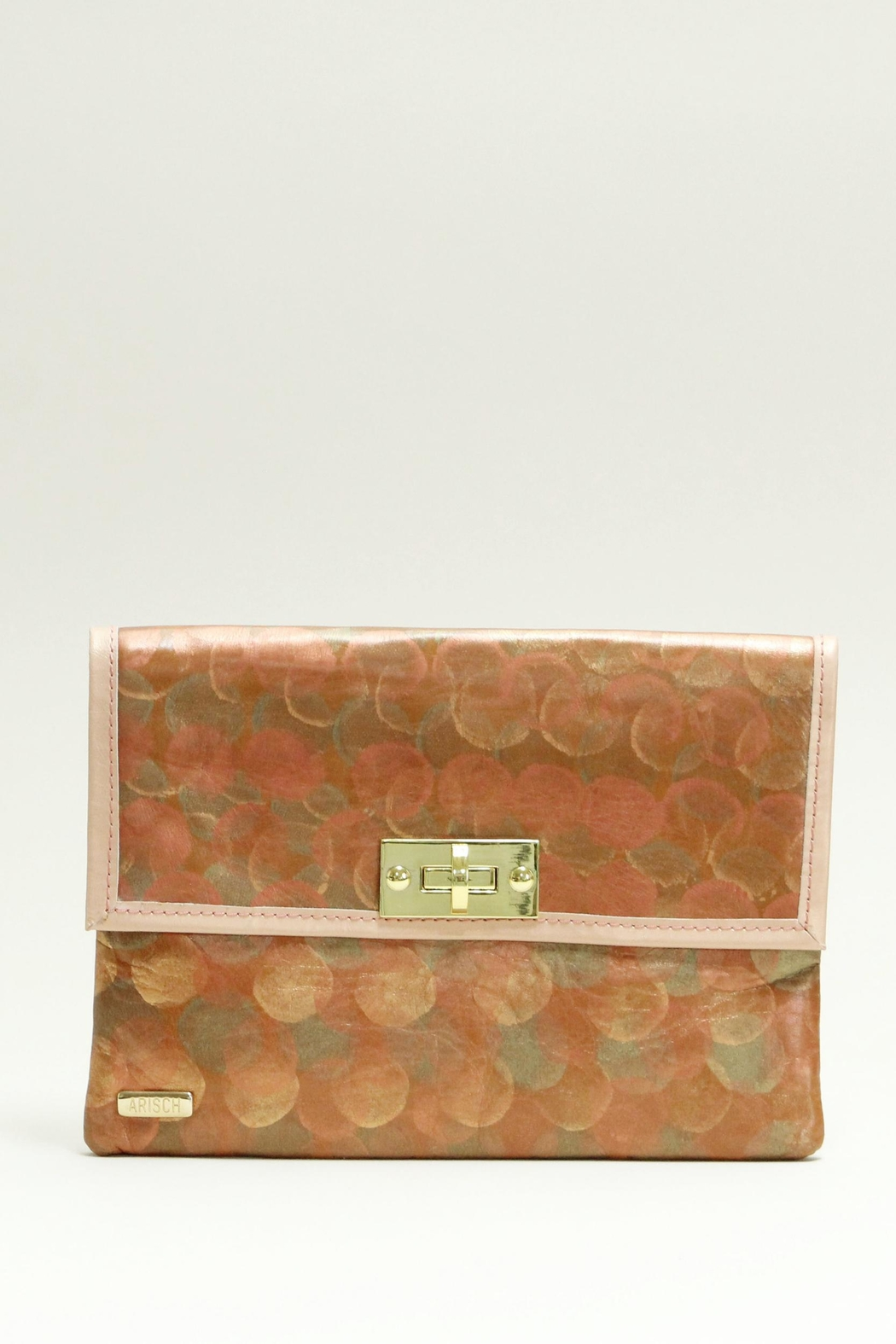 Arisch Elizabeth Leather Clutch - Front Cropped Image