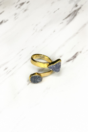 Elizabaeth Stone Elizabeth Stone double druzy ring - Product Mini Image