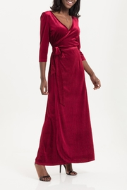 70s Prom, Formal, Evening, Party Dresses Elizabeth Velvet Wrap-Dress $79.00 AT vintagedancer.com