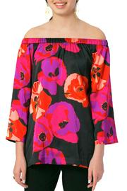 ELIZABETH ACKERMAN NEW YORK Black Poppy Blouse - Product Mini Image
