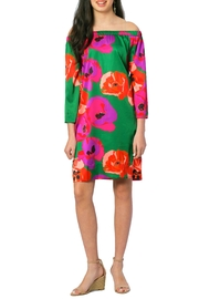 ELIZABETH ACKERMAN NEW YORK Green Poppy Dress - Product Mini Image