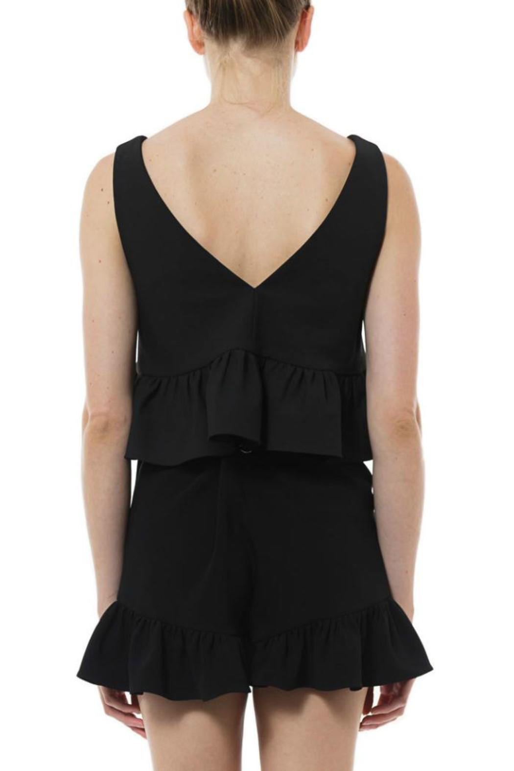 Elizabeth & James Analinne Ruffle Crop - Front Full Image