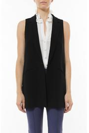 Elizabeth & James Tailored Garnet Vest - Front cropped