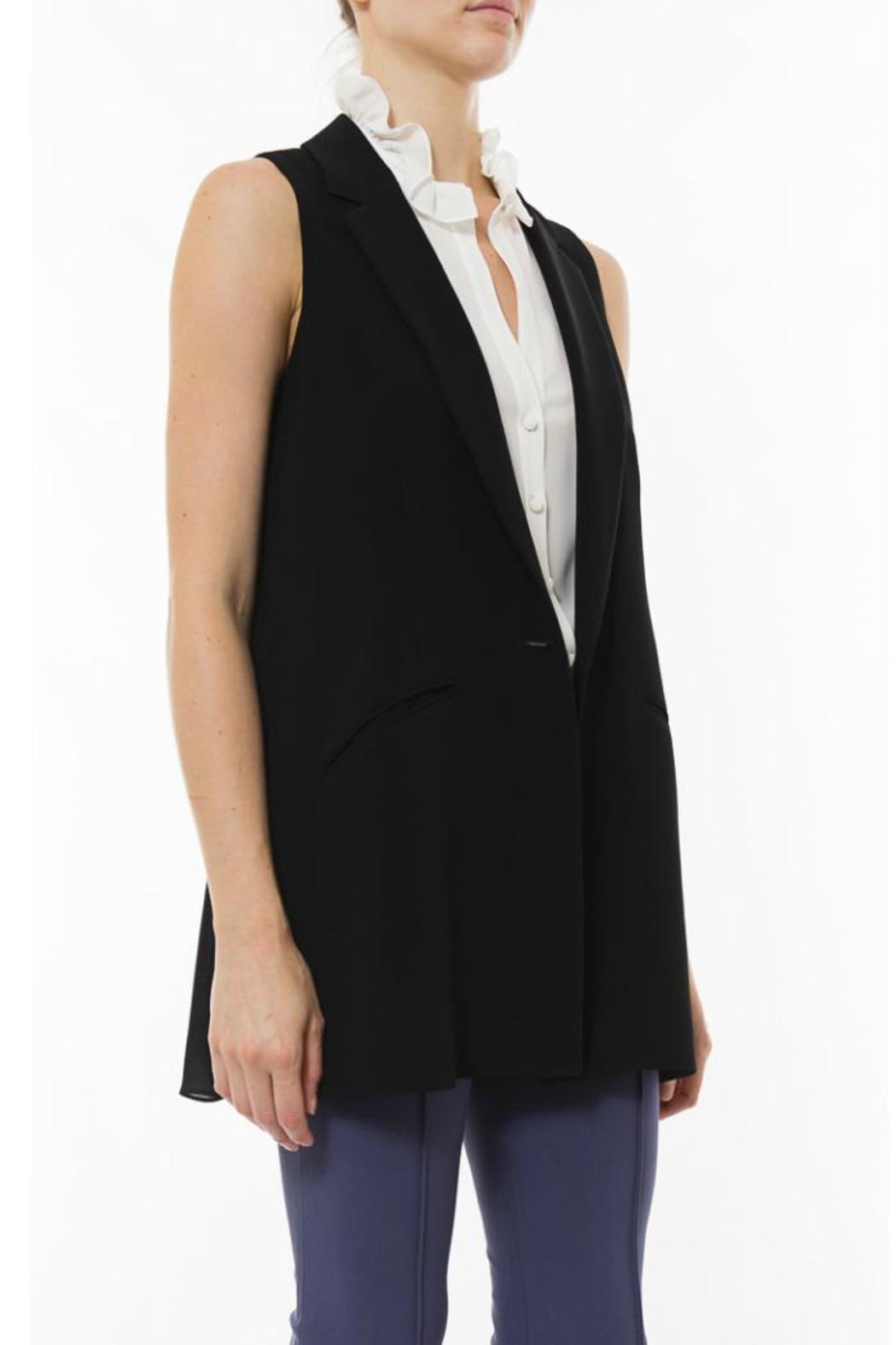 Elizabeth & James Tailored Garnet Vest - Side Cropped Image
