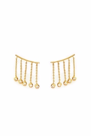 Elizabeth Stone Cz Ear Climbers - Front cropped