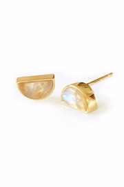 Elizabeth Stone Moonstone Stud Earrings - Front cropped