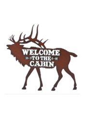 Rustic Ironwerks Elk Silhouette Cabin Sign - Product Mini Image
