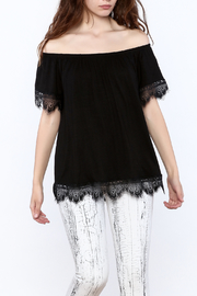 Ella Mara Black Off Shoulder Blouse - Product Mini Image