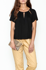 Ella Moss Cutout Collar Top - Front cropped
