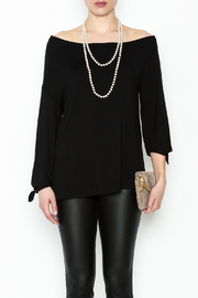 Ella Moss Black Off Shoulder Top - Front full body