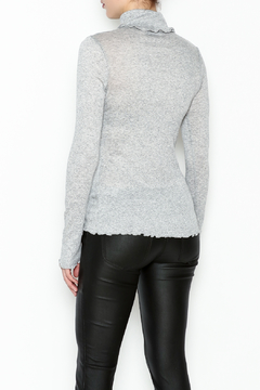 Ella Moss Grey Ruffle Turtleneck - Alternate List Image