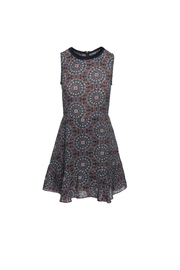 Ella B Contrast Neck Dress - Product Mini Image