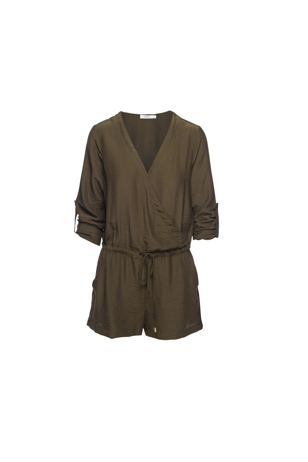 Ella B Cross Front Romper - Front Cropped Image