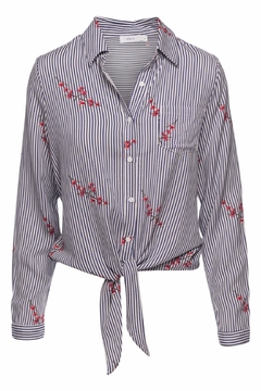 Ella B Knotted Striped Blouse - Product List Image
