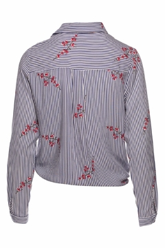 Ella B Knotted Striped Blouse - Alternate List Image