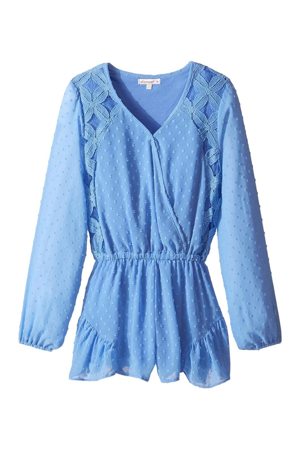Ella Moss Blue Izzy-Jasmine Romper - Front Cropped Image