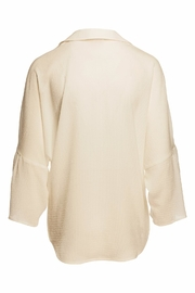 Ella Moss Natural Oversize Top - Front full body
