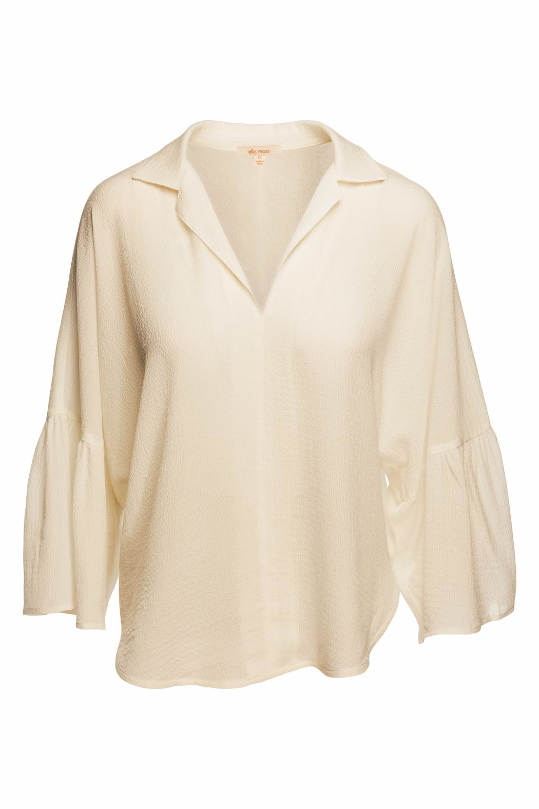 Ella Moss Natural Oversize Top - Front Cropped Image
