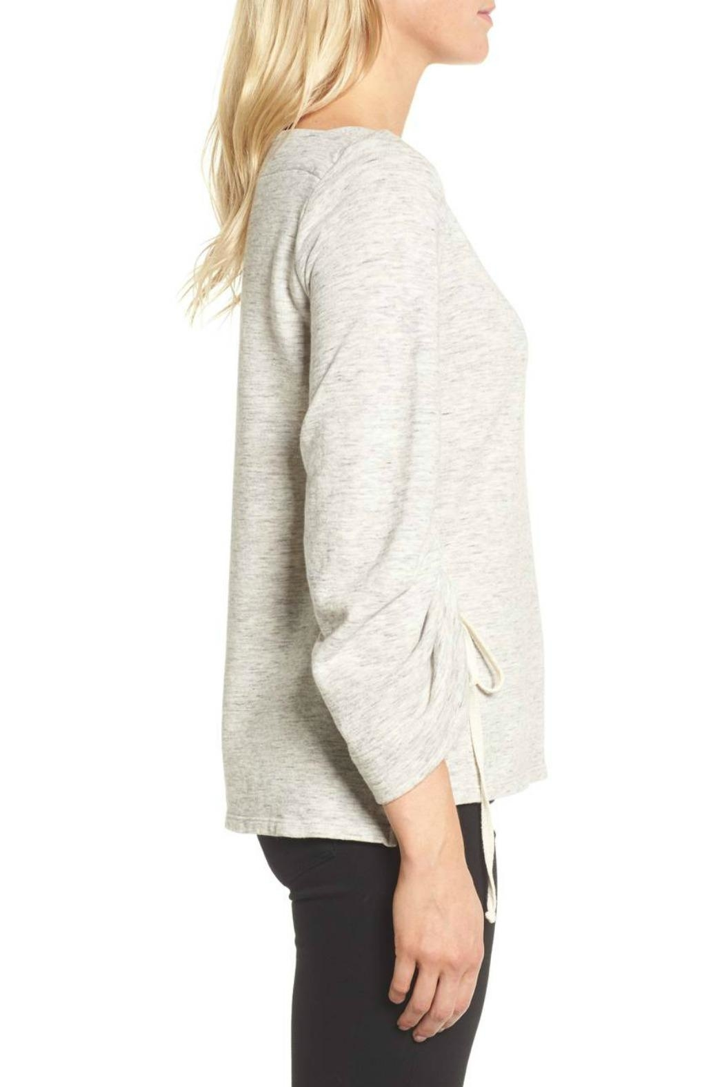 Ella Moss Ruched Sleeve Sweatshirt - Front Full Image
