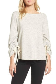 Ella Moss Ruched Sleeve Sweatshirt - Front cropped