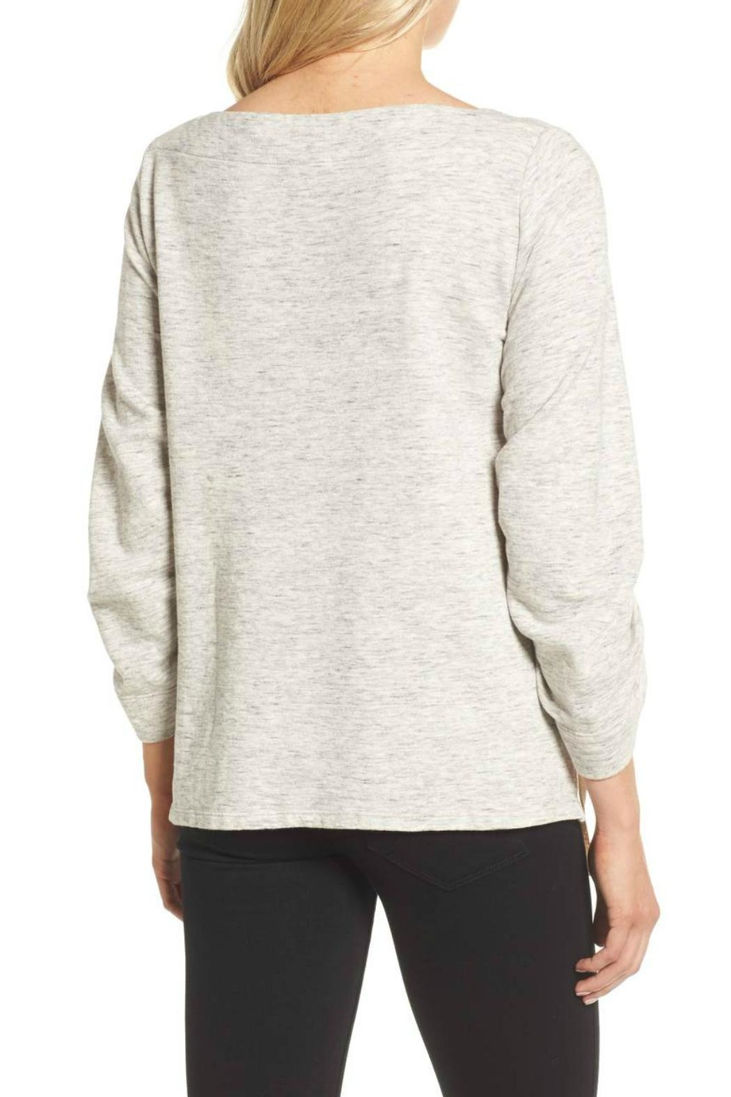 Ella Moss Ruched Sleeve Sweatshirt - Side Cropped Image