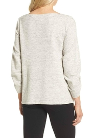 Ella Moss Ruched Sleeve Sweatshirt - Side cropped