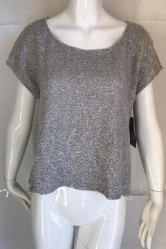 Ella Moss Sequin Scoop-Neck Sweater - Alternate List Image