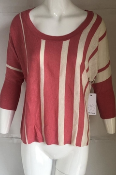 Ella Moss Striped Scoop-Neck Sweater - Product List Image