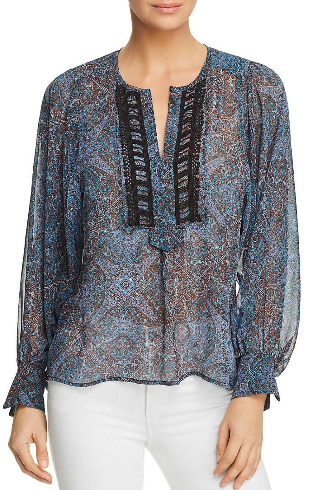 Ella Moss Tapestry Print Top - Front Cropped Image