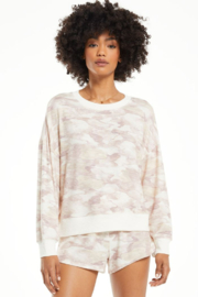 z supply Elle Camo Long Sleeve Top - Product Mini Image