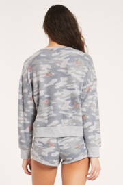 z supply Elle Rose Camo Long Sleeve - Back cropped