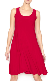 Ellen Parker Red Trapeze Dress - Front cropped