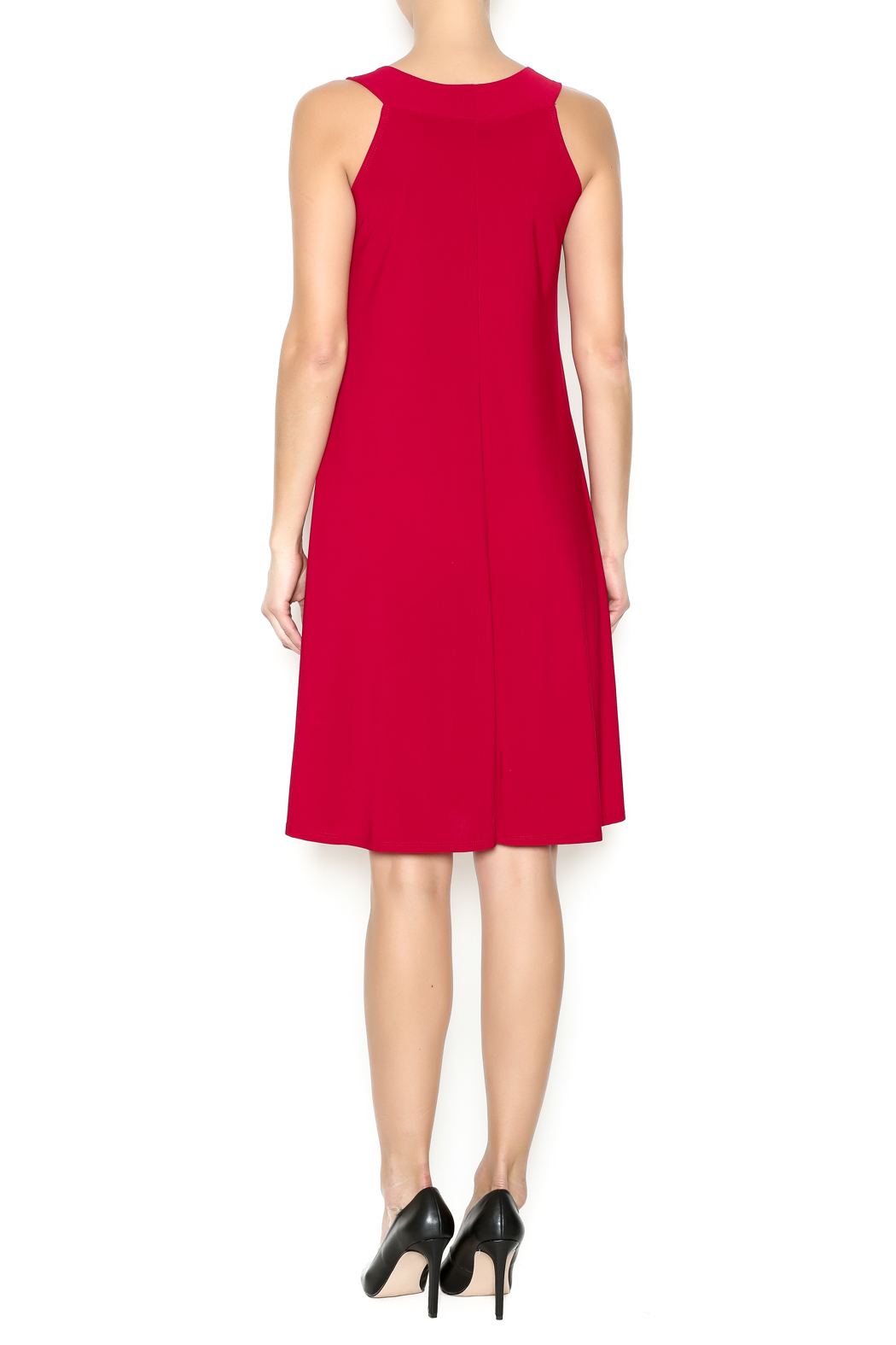 Ellen Parker Red Trapeze Dress - Side Cropped Image