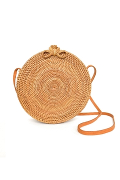 Ellen and James Round Straw Purse - Product List Image