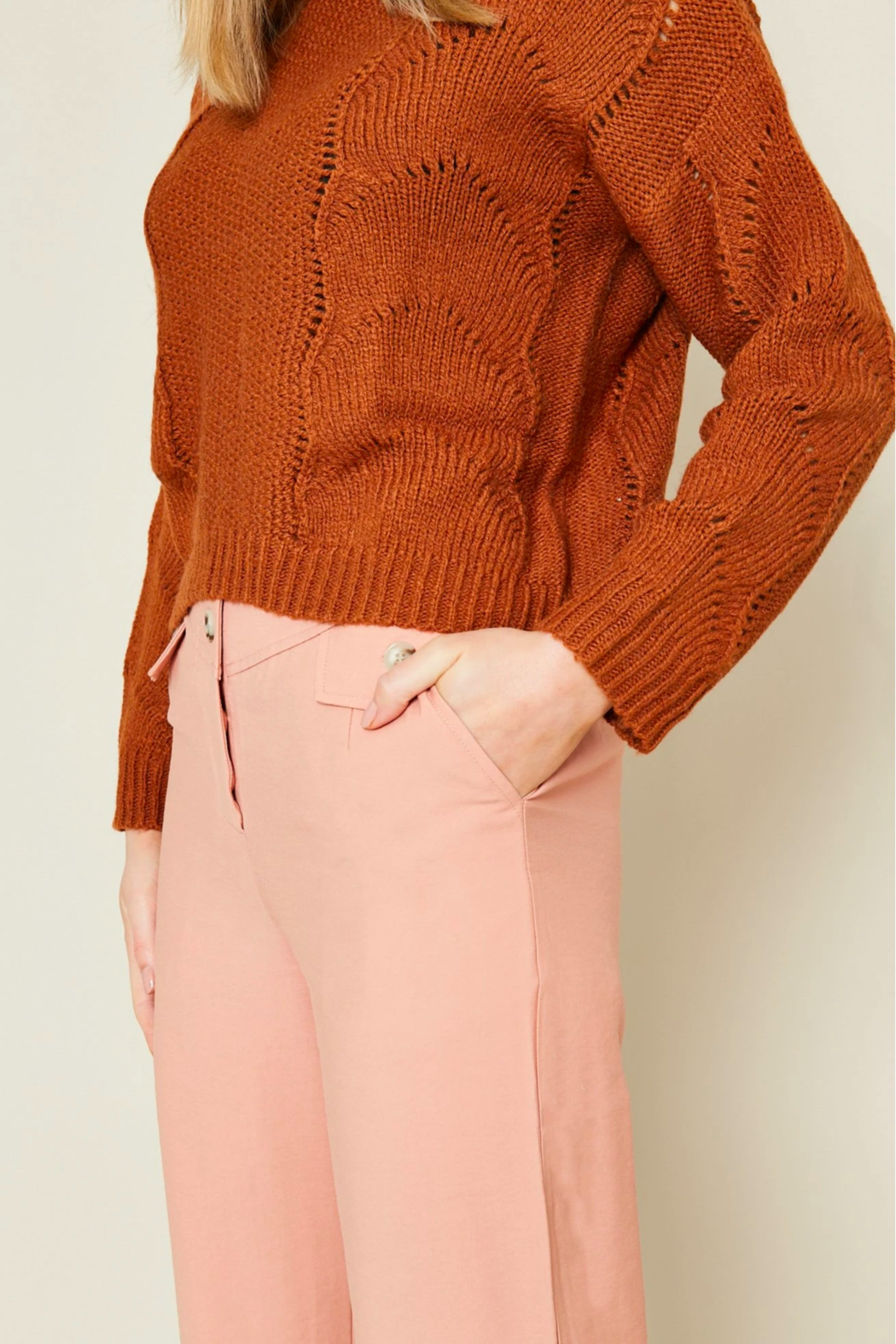 Native Youth Ellery Light Sweater - Back Cropped Image