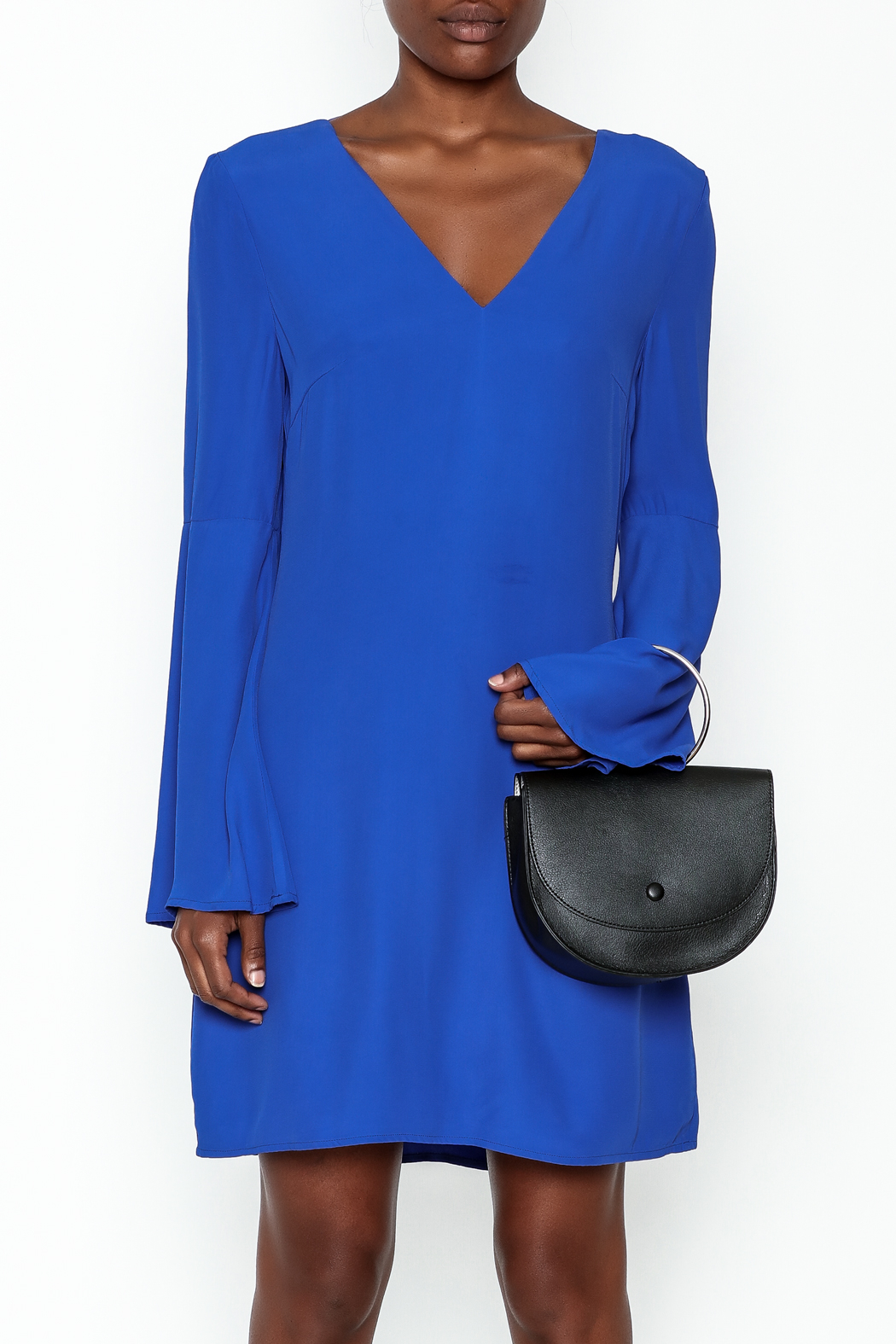 Elliatt Bell Sleeve Shift Dress - Front Full Image