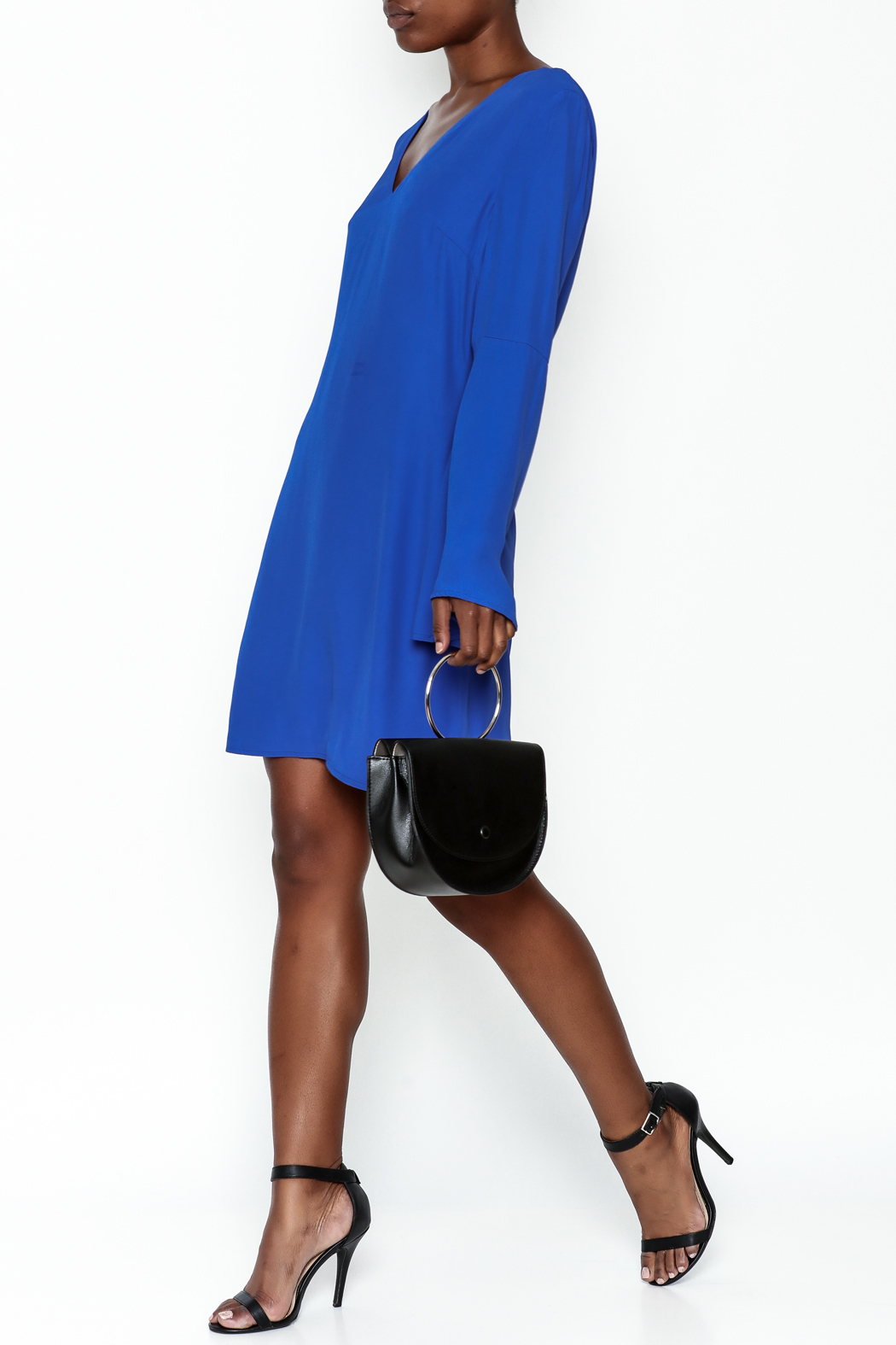 Elliatt Bell Sleeve Shift Dress - Side Cropped Image
