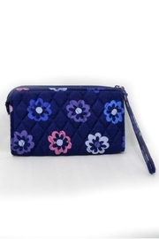 Vera Bradley Ellie Flowers Wristlet - Front full body