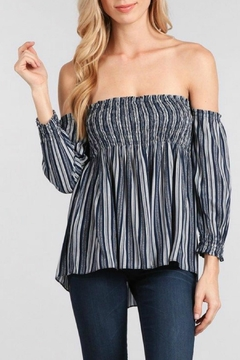 Ellie & Kate Off Shoulder Stripe Top - Product List Image