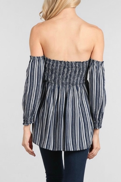 Ellie & Kate Off Shoulder Stripe Top - Alternate List Image