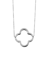 Ellie Vail Open Clover Necklace - Front cropped