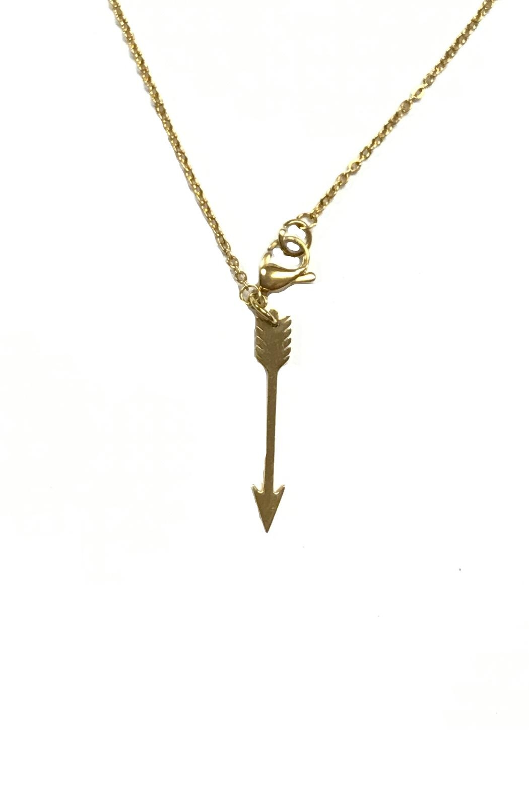 Ellie Vail Open Clover Necklace - Front Full Image