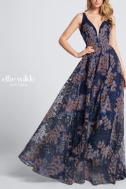 Ellie Wilde Sleeveless Evening Gown - Front cropped