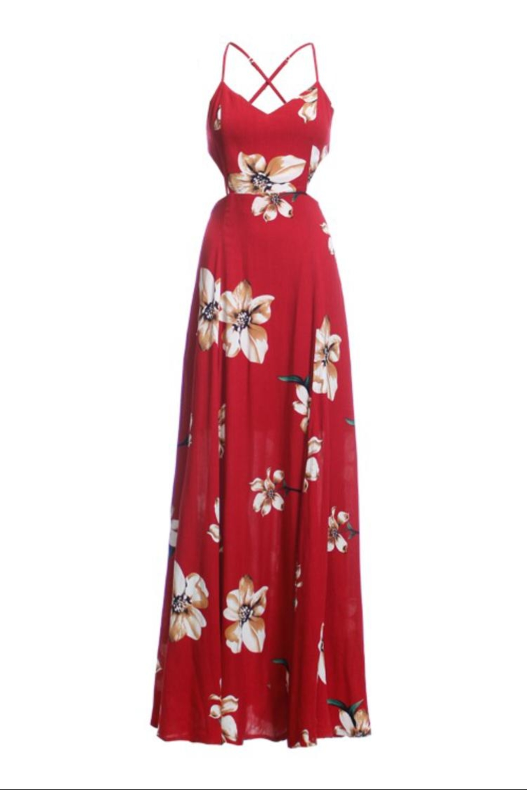 re:named Elliot Maxi Dress - Front Cropped Image