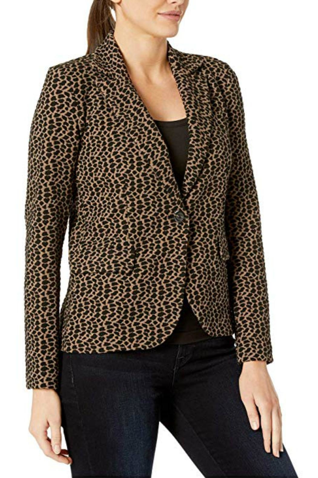 Elliott Lauren Animal Print Jacket - Side Cropped Image