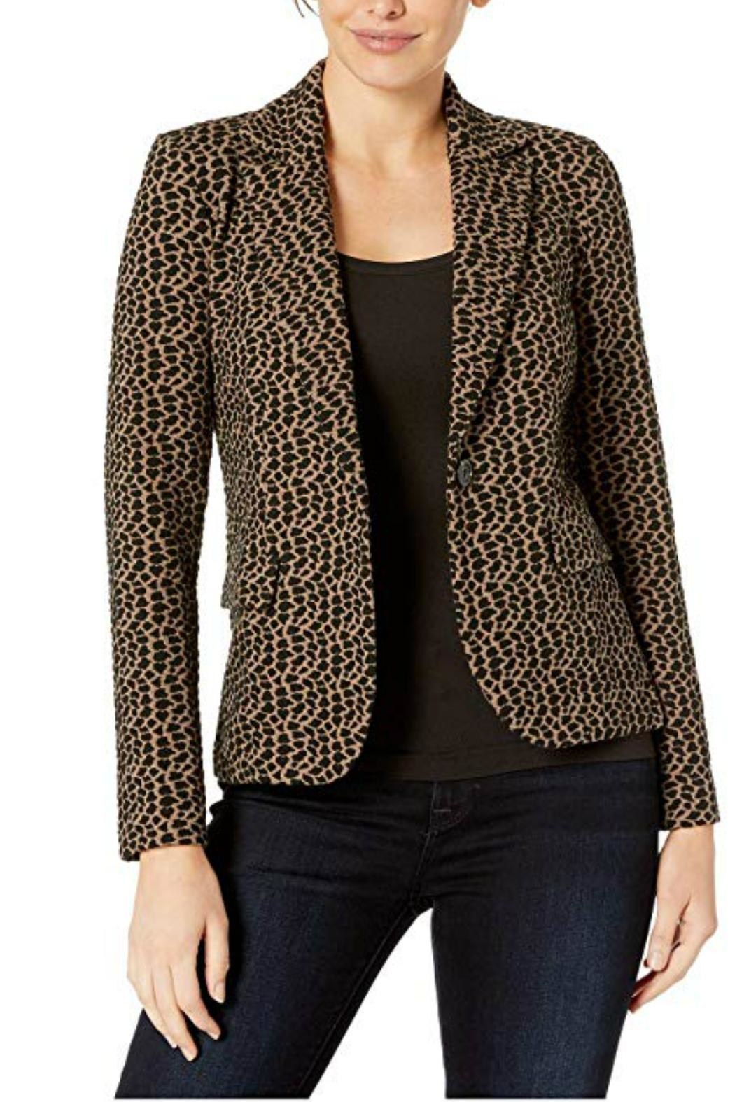 Elliott Lauren Animal Print Jacket - Front Full Image