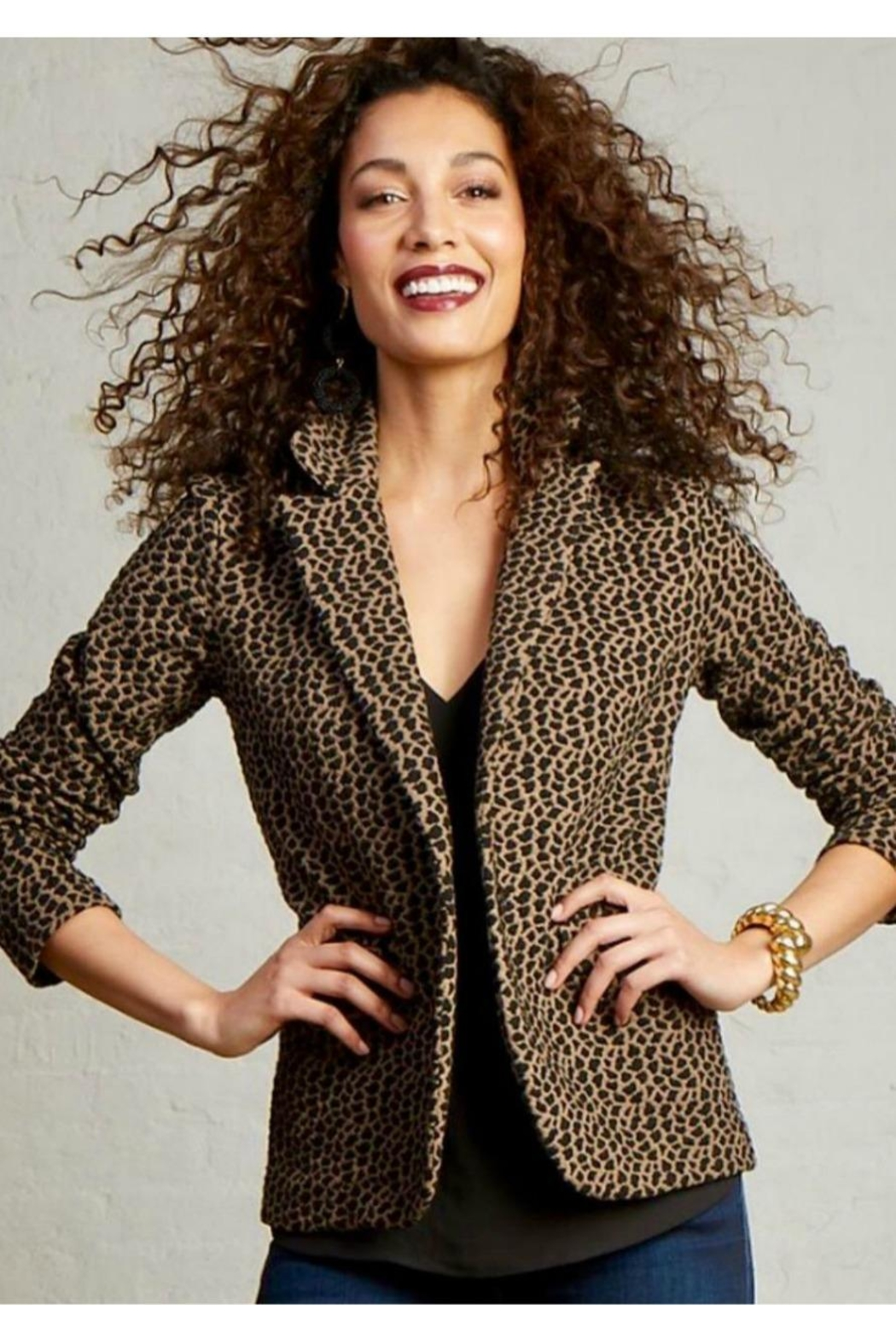 Elliott Lauren Animal Print Jacket - Main Image
