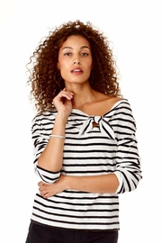 Elliott Lauren Bow/stripe Top - Product Mini Image