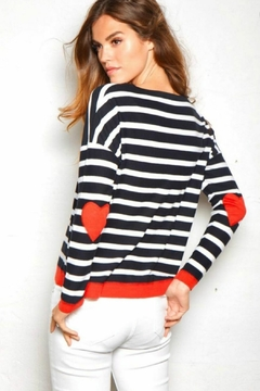 Elliott Lauren Heart/stripe Sweater - Alternate List Image