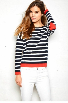 Elliott Lauren Heart/stripe Sweater - Product List Image